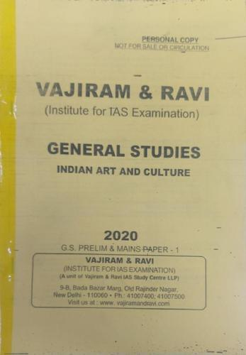 Vajiram and Ravi General studies art and cluture for civil services,UPSC,IAS,IFS,PCS